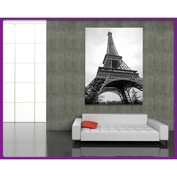 bilderdepot24 tableau toile tour eiffel paris france 60x80cm achat vente tableau. Black Bedroom Furniture Sets. Home Design Ideas