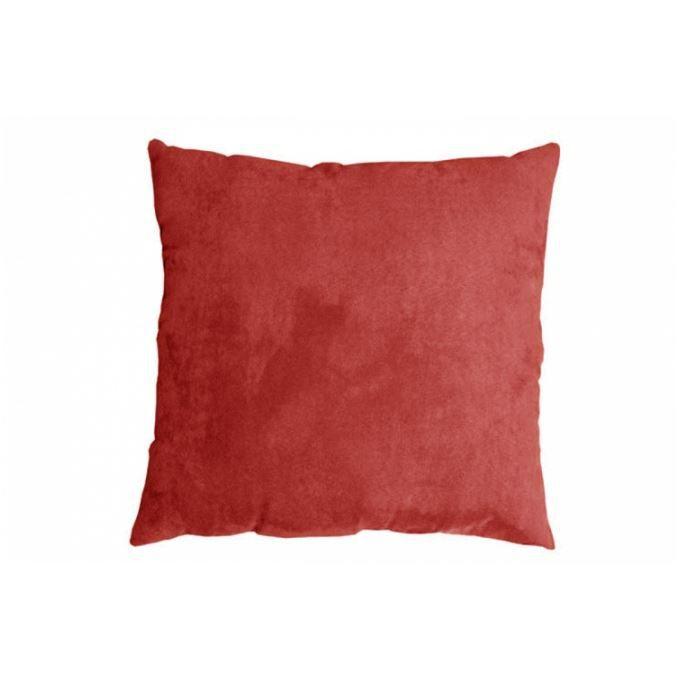 Coussin en velours rouge oslo 40x40 cm achat vente coussin coussin en vel - Coussin velours rouge ...