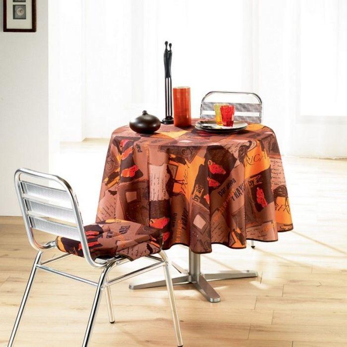 nappe ronde anti tache diam 180 cm afrique chal achat vente nappe de table cdiscount. Black Bedroom Furniture Sets. Home Design Ideas