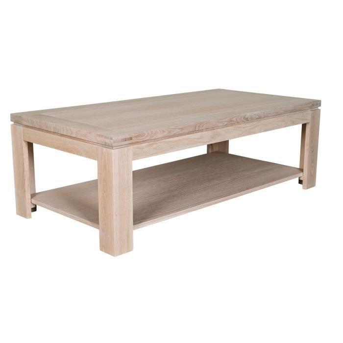 Table basse rectangulaire en ch ne blanchi boston achat vente table basse - Table en chene blanchi ...