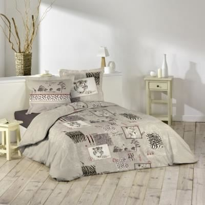 housse de couette et taies d 39 oreiller savane achat. Black Bedroom Furniture Sets. Home Design Ideas