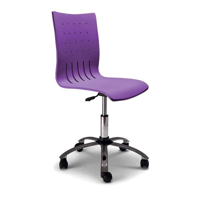 chaise de bureau tudiant violet dimensions achat vente chaise de bureau violet cdiscount. Black Bedroom Furniture Sets. Home Design Ideas