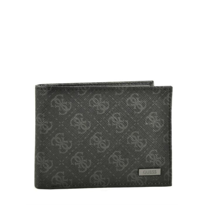 Guess myself portefeuille des hommes avec porte monnaie sm0816lea24 noir noir achat vente - Porte monnaie homme diesel ...