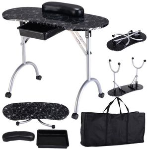 SOIN DES ONGLES Table de manucure pliante portable ongles cosmétiq