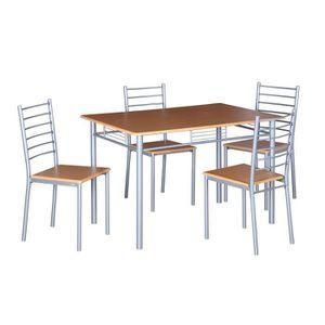 Table salle a manger metal et bois achat vente table for Chaises salle a manger et cuisine