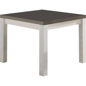 Table basse gris carre achat vente table basse gris - Table basse carree blanc ...