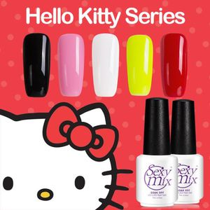 SOIN DES ONGLES Sexy mix 5Pcs / Lot Hello kitty gel ongles Set Imb
