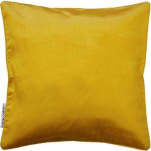 Housse de coussin jaune achat vente housse de coussin for Housse de coussin pas cher