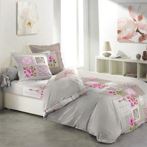 parure de drap flanelle achat vente parure de drap flanelle pas cher cdiscount. Black Bedroom Furniture Sets. Home Design Ideas