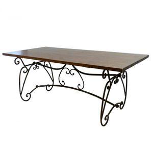 table bois et fer achat vente table bois et fer pas cher cdiscount. Black Bedroom Furniture Sets. Home Design Ideas
