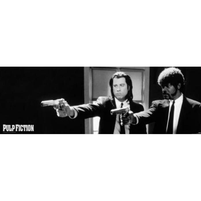 Pulp fiction poster de porte b n arme i 53 x achat vente affiche cdiscount - Porte monnaie pulp fiction ...