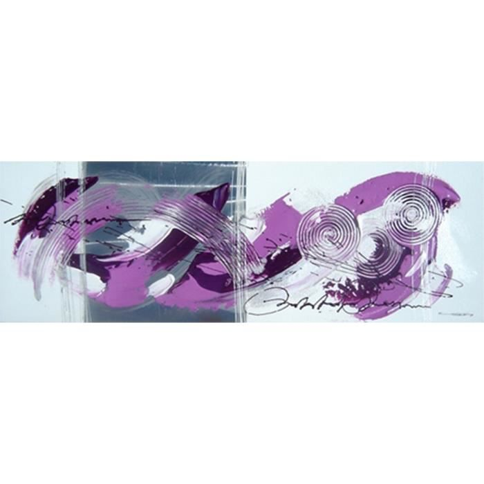 Toile peinte abstraite 30x90 cm violet Achat / Vente tableau toile