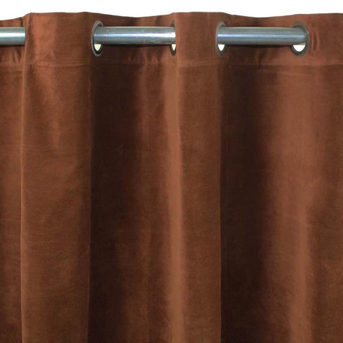 arthur rideau velours 150x250 chocolat monbea achat vente rideau velours coton cdiscount. Black Bedroom Furniture Sets. Home Design Ideas