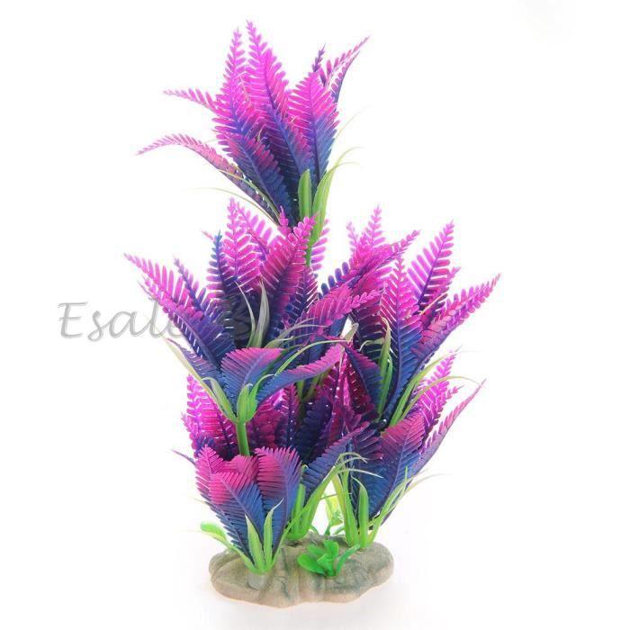 Plante artificielle herbe aquatique en plastique violet for Deco plante artificielle