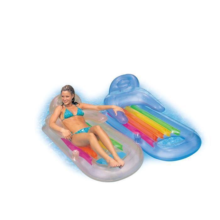 Fauteuil piscine confort intex achat vente piscine for Achat piscine intex