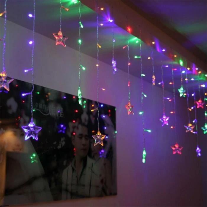 Multicolore toile guirlande lumineuse led feux f erique - Rideau guirlande lumineuse ...