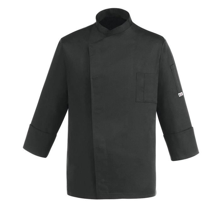 veste de cuisine black cheap noir achat vente veste