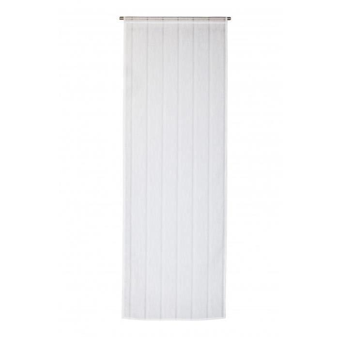 vitrage 70x200 passe tringle blanc achat vente rideau polyester cdiscount. Black Bedroom Furniture Sets. Home Design Ideas
