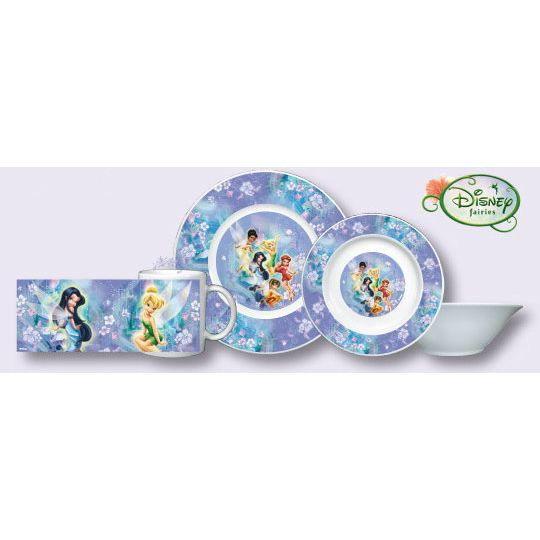 F e clochette disney set petit d jeuner fairies achat for Set petit dejeuner porcelaine