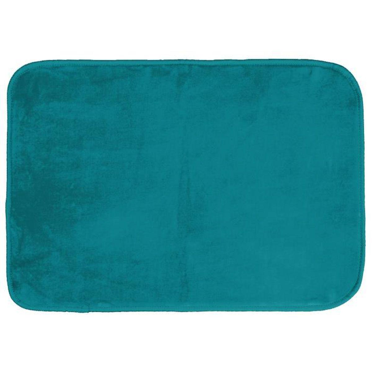 tapis rectangle 120 x 170 cm velours uni louna bleu lagon achat vente tapis de couloir. Black Bedroom Furniture Sets. Home Design Ideas