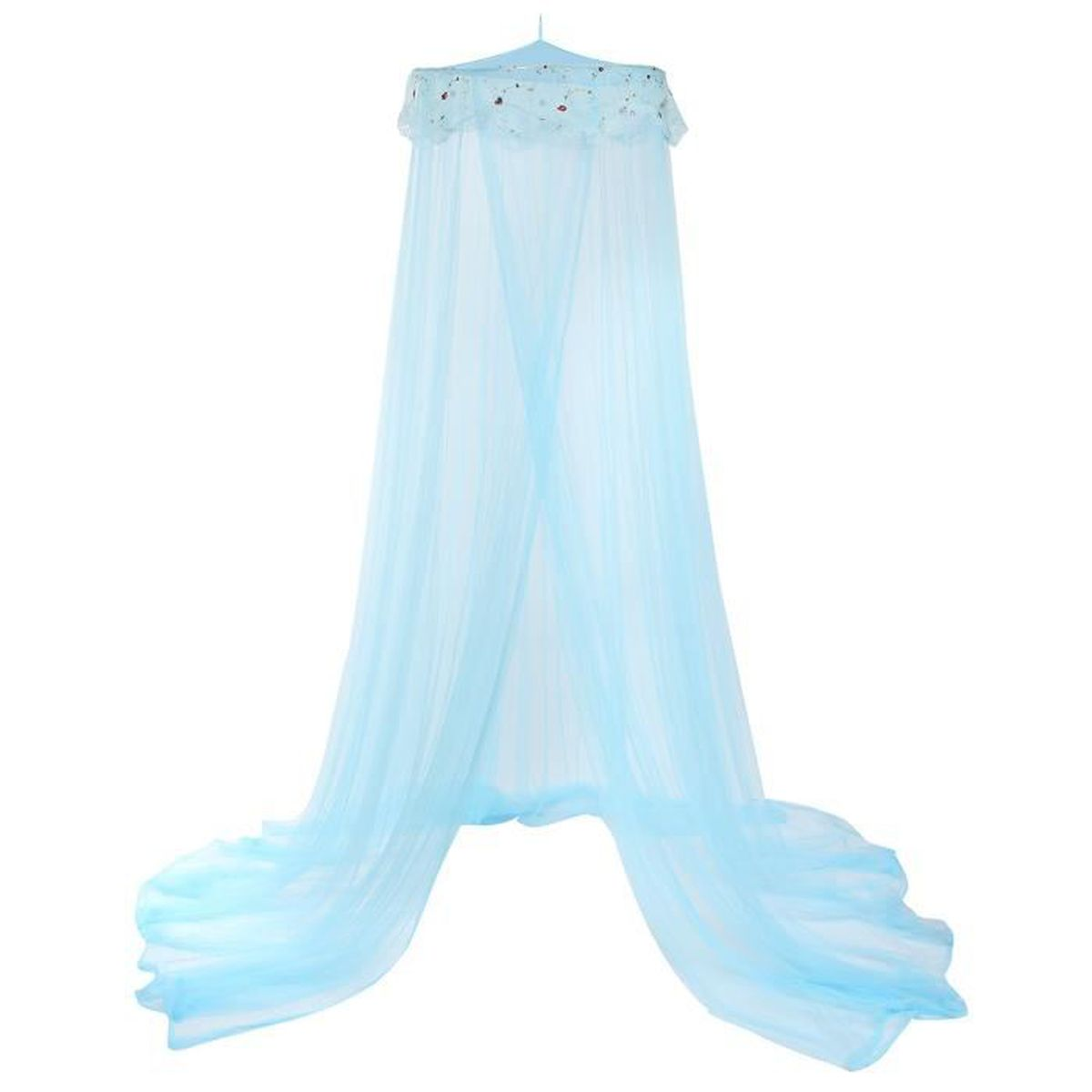 tempsa moustiquaire ciel de lit bleu clair achat vente moustiquaire de lit soldes cdiscount. Black Bedroom Furniture Sets. Home Design Ideas