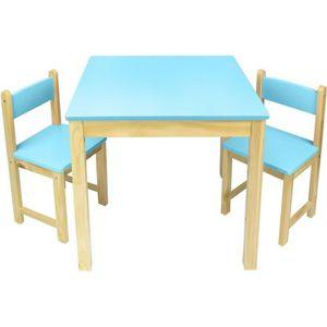 CHAMBRE COMPLÈTE  Table en bois dans un ensemble avec deux chaises b