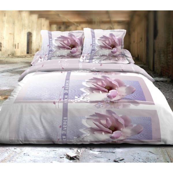 parure drap plat 240x300 cm drap housse 140x190 cm 2 taies d oreiller zen garden achat. Black Bedroom Furniture Sets. Home Design Ideas
