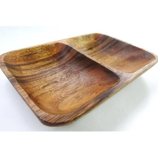 coupelle 2 compartiments en bois ap ritif exotique achat vente coupelle coupe glace. Black Bedroom Furniture Sets. Home Design Ideas