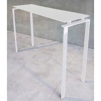 Console laqu e blanc longueur 100 cm achat vente console console laqu e b - Console laquee blanc ...