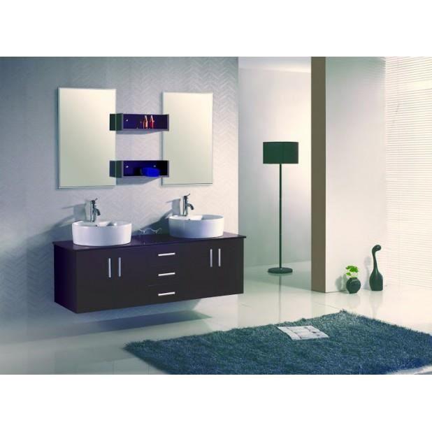 magnifique ensemble meuble salle de bain complet figo 2 vasque 2miroir achat vente salle de. Black Bedroom Furniture Sets. Home Design Ideas