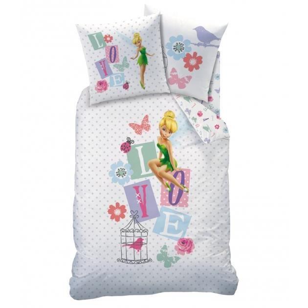 disney fairies parure de lit f e clochette achat vente. Black Bedroom Furniture Sets. Home Design Ideas