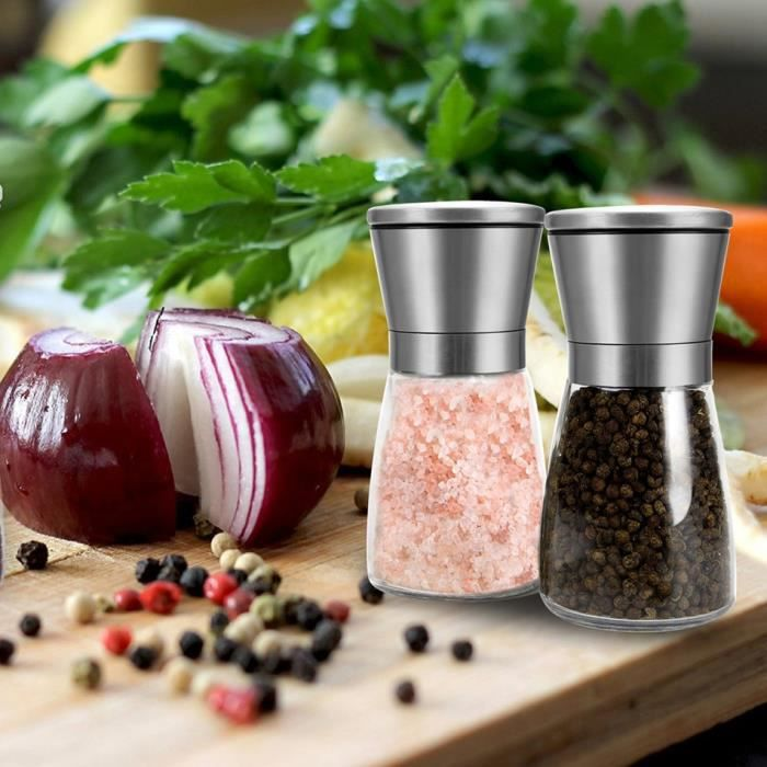 moulin moulin poivre 2pcs cuisine outil inox sel jeu de moulin poivre achat vente. Black Bedroom Furniture Sets. Home Design Ideas