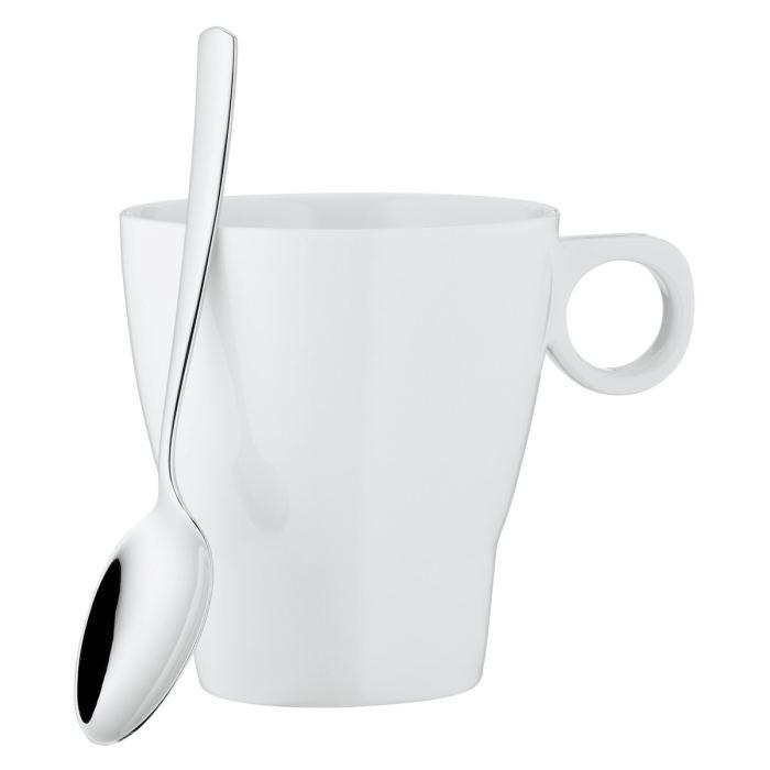 Tasse a cafe avec cuillere h 11 cm 300 ml achat vente for 1 cuillere a table en ml