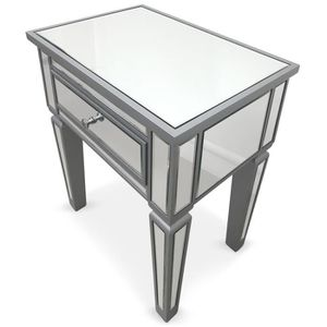 table de chevet miroir achat vente table de chevet miroir pas cher cdiscount. Black Bedroom Furniture Sets. Home Design Ideas