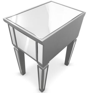 Table de chevet miroir achat vente table de chevet for Table de chevet miroir