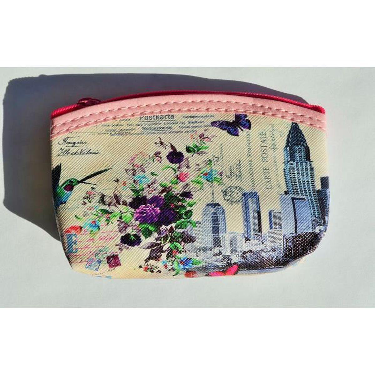 Porte monnaie zip femme d cor inde chine fran aise ref 03a for Decoration porte francaise