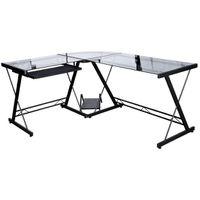 Bureau pour ordinateur table verre triangle pc achat - Table ordinateur verre ...
