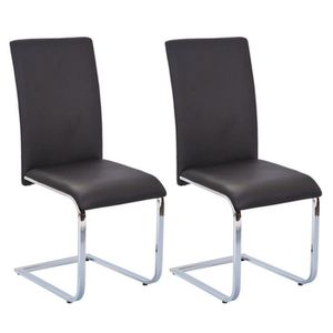 CHAISE Brooklyn - Lot 2 Chaises Noires