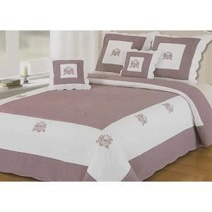 couvre lit boutis violet achat vente couvre lit boutis violet pas cher les soldes sur. Black Bedroom Furniture Sets. Home Design Ideas