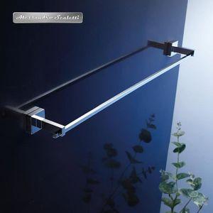 Porte serviette chrome mural achat vente porte for Porte serviette inox 60 cm
