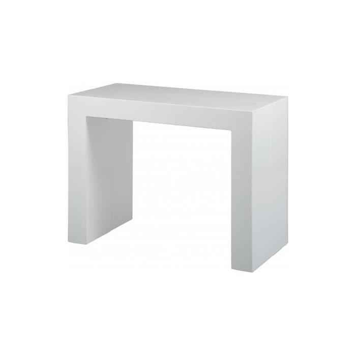 Console extensible 3 allonges laqu e blanc achat vente console extensible - Console laquee blanc ...