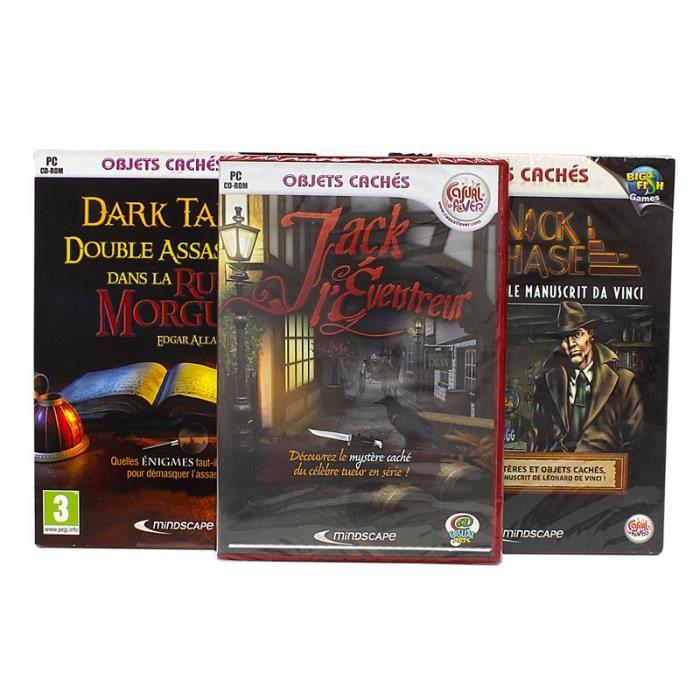 JEU PC Pack 3 jeux objets cachés et intrigues volume 1