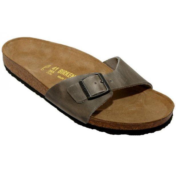 nu pieds birkenstock madrid homme gris achat vente nu pieds birkenstock madrid homme pas cher. Black Bedroom Furniture Sets. Home Design Ideas