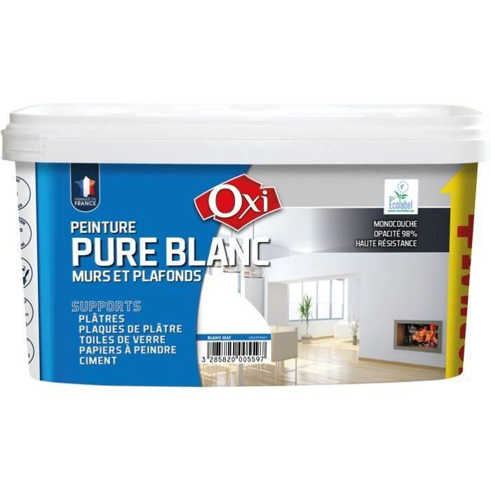 peinture monocouche mat 2 5 l blanc achat vente peinture vernis les soldes sur. Black Bedroom Furniture Sets. Home Design Ideas