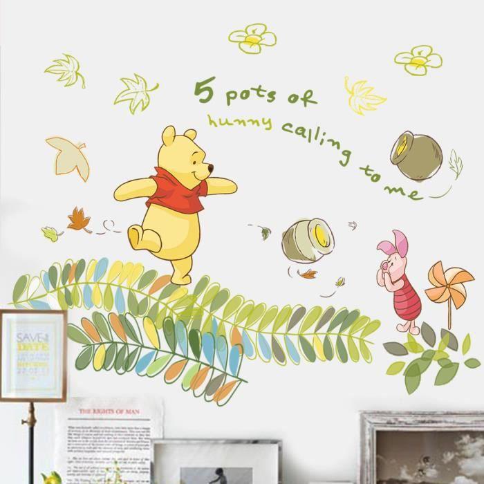 Sticker d coration murale salon chambre enfants winnie l for Decoration murale winnie l ourson