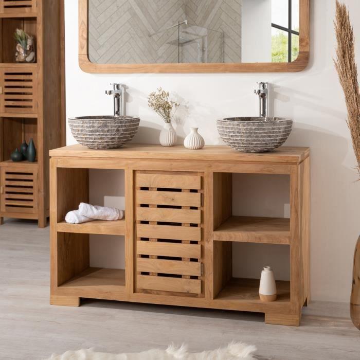 meuble salle de bain teck - achat / vente meuble salle de bain ... - Meuble Salle De Bains Teck