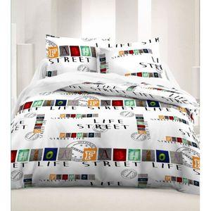 housse de couette lit 1 personne paris achat vente. Black Bedroom Furniture Sets. Home Design Ideas