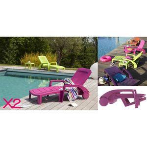 Bain de soleil pvc achat vente bain de soleil pvc pas cher les soldes sur cdiscount - Grosfillex chaise longue ...
