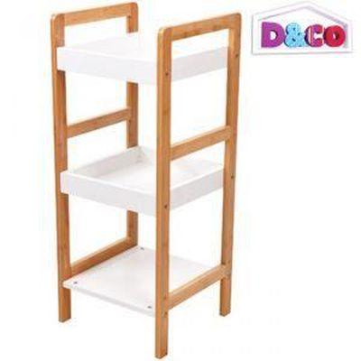 Étagère Bambou meuble de rangement salle de bain 3 - Achat / Vente ...
