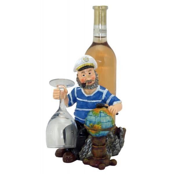 Porte bouteille marin avec la mappemonde achat vente for Distributeur alcool mural